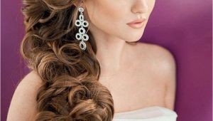 Wedding Hairstyles to the Side with Curls Elegant Bridal Hairstyles for Long Hair 119