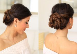 Wedding Hairstyles Tutorial Youtube 2 Minute Elegant Bun Hair Tutorial