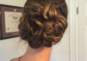 Wedding Hairstyles Updos for Guests Low Side Bun Updo for Wedding Guest or Bridesmaid Hair with Side