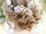 Wedding Hairstyles Updos with Flowers Wavy Curly Updo Wedding Hairstyle with Flower Crown I Like the