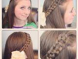 What are some Cute Hairstyles 4 Strand Slide Up Braid Pullback Hairstyles