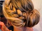 Womens Hairstyles Hair Up Braids Braided Side Bun Hairstyle for Women with Thi… Hair