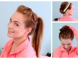 Workout Hairstyles for Short Hair 3 Workout Ready Hairstyles Diy Headband