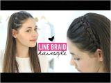Youtube Braided Hairstyles for Short Hair Line Braid Hairstyle Tutorial