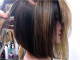 Youtube Graduated Bob Haircut Angled Bob Hairstyles Angled Bob Graduated and Texturized