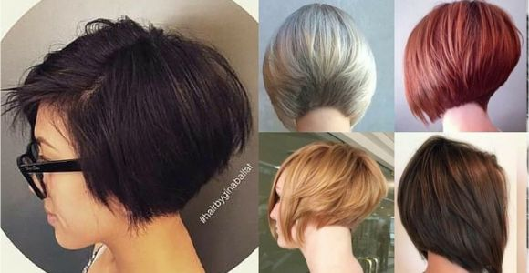 Youtube Short Bob Haircuts Short Stacked Layered Bob Haircut